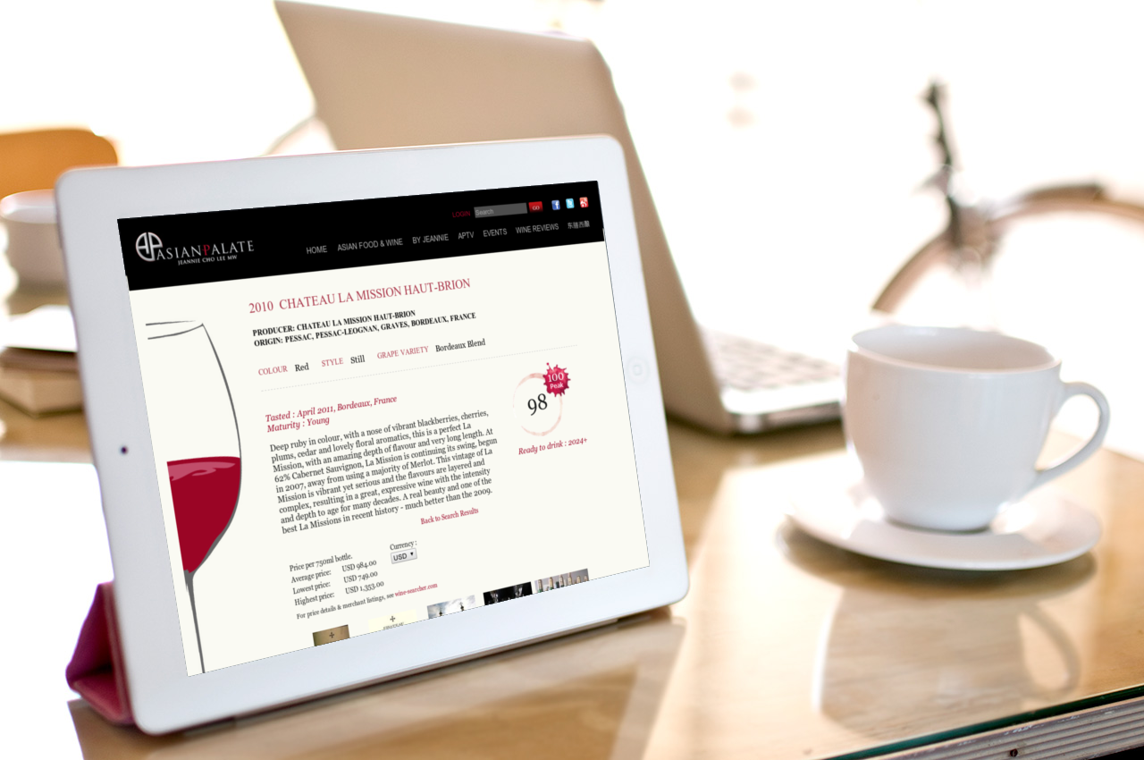 Asian Palate Wine Tasting Notes Database System