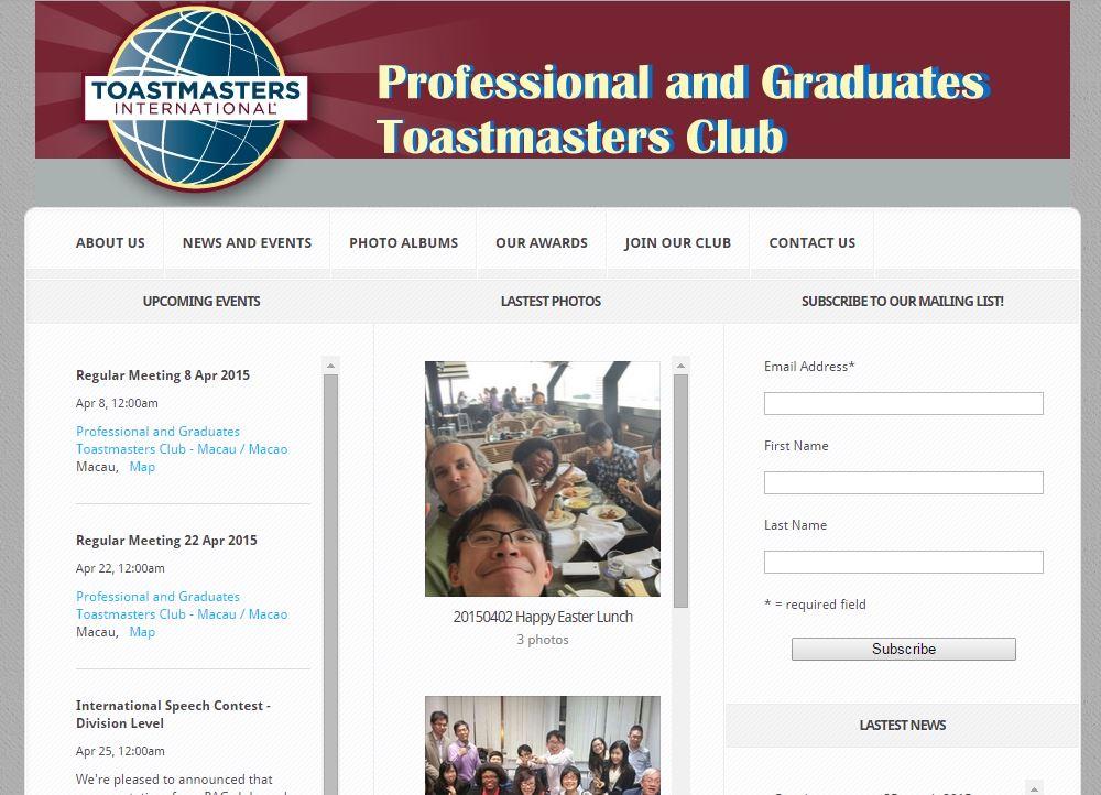 Professional & Graduates Toastmasters Club